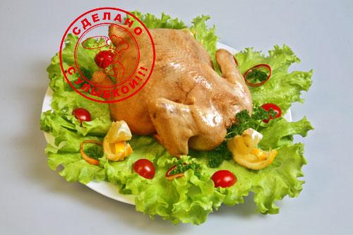 Отварная домашняя курица