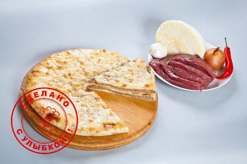 Осетинский пирог с капустой и мясом