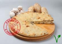 Осетинский пирог с картофелем и грибами